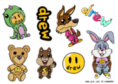 Community characters sticker sheet