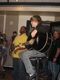 Justin Bieber performing for fans on Q100