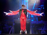 Justin Bieber performing in Sao Paulo 2011