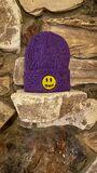 Mascot waffle beanie - purple