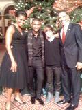 Justin Bieber with president Obama 2009