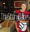 Justin Bieber wearing red peace shirt