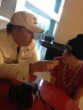 Brett Andrews chatting with Justin Bieber