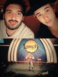 Justin Bieber with Johnny at Laugh Factory