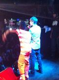 Lil Twist and Justin Bieber performing July 2011