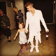 Justin holding Jazzy's hand