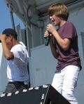Justin performing at Family Frenzy 2009