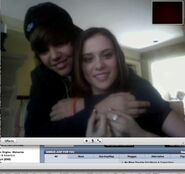 Justin Bieber and Caitlin 2009