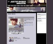 Justin Bieber newsletter OLLG