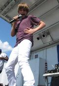 Justin performing at Family Frenzy '09