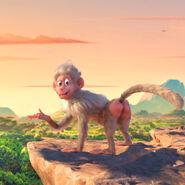 Justin Bieber as a baboon