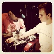Ryan Butler getting his first tat