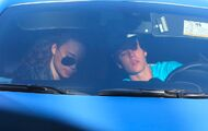 Justin Bieber and Ashley Moore in Ferrari