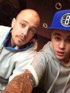 Josh Gudwin and Justin Bieber 2014