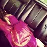 Tired birthday girl