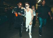 DJ Tay James with Justin Bieber Believe Tour