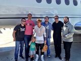 Justin Bieber with his brother and John Shahidi
