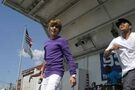 Justin Bieber singing at Family Frenzy '09
