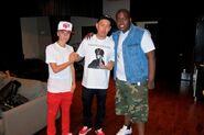 Justin Bieber and Sean Kingston with Ben Baller