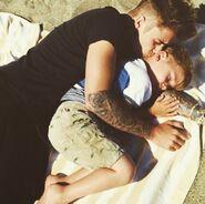 Justin Kissing Jaxon