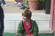 Justin Bieber OLLG music video set