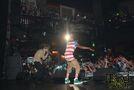 Justin Bieber singing on stage July 2011
