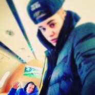 Justin in jet with Ryan