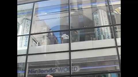 Justin Bieber at The Nintendo World Store, NYC
