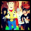 Justin Bieber with Sheriff Woody