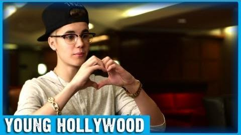 Justin Bieber Shows His Heart