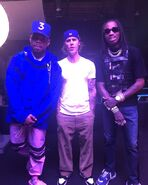 Justin Bieber with Chance The Rapper and Quavo
