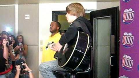 Justin Bieber singing Heartless and Cry me a River 7 29 09
