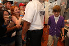 Justin Bieber in the Nintendo World Store '09