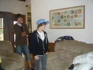 Justin singing to a fan 2009