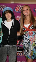 Justin with a fan July 2009