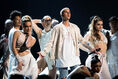 Justin Bieber with dancers BBMA's 2016