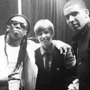 Justin Bieber with Lil Wayne and Drake