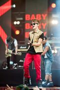 Justin performing at MTV World Stage Live in Malaysia 2012