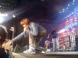 Justin Bieber working the crowd Canada's Wonderland