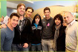 Justin Bieber at Mattel Children's Hospital