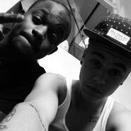 DJ Tay James and Justin BIeber 2013