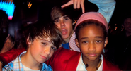 Justin Bieber with Christian Beadles and Jaden Smith