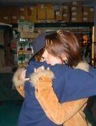 Justin hugging Pattie