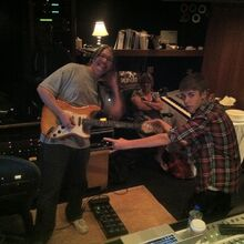 Tom Strahle and Justin Bieber in the studio.jpg