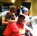 Justin Bieber and Chris Brown in the studio 2011
