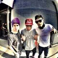 Justin Bieber with Khalil and Bei Maejor