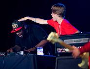 DJ Tay James with Justin Bieber