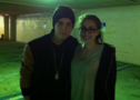 Justin Bieber with a fan March 2012
