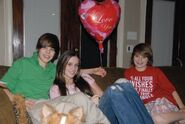 Justin with a 'I Love You' balloon