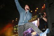 Justin Bieber performing at Canada's Wonderland